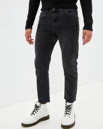 Серые зимние зауженные джинсы J.b4
