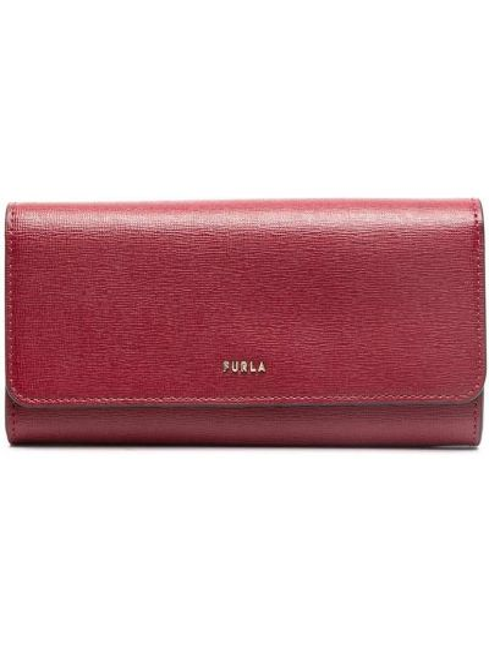 Красный кошелек на молнии с карманами Furla