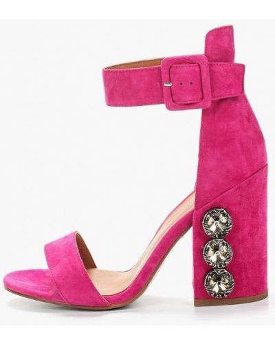 Босоножки на каблуке розовый Ilvi