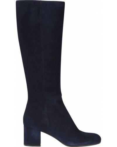 Кожаные сапоги - синие Gianvito Rossi