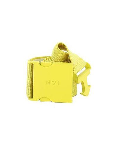 Желтый ремень из вискозы с поясом No.21