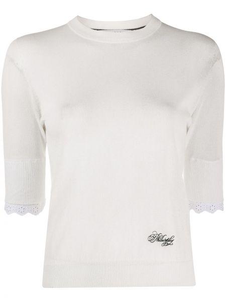 Пуловер с вышивкой в рубчик Philosophy Di Lorenzo Serafini