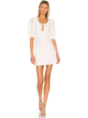 Biała sukienka vintage Tularosa