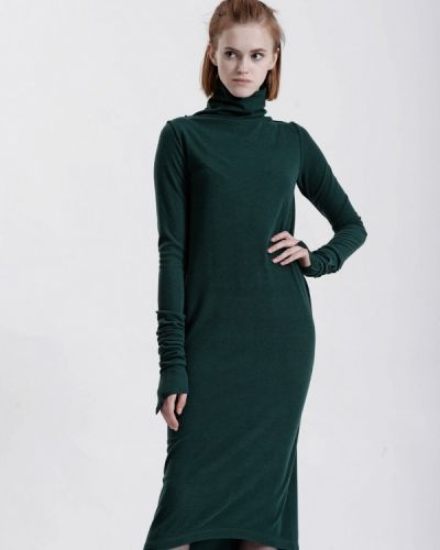 Платье осеннее зеленый W8less