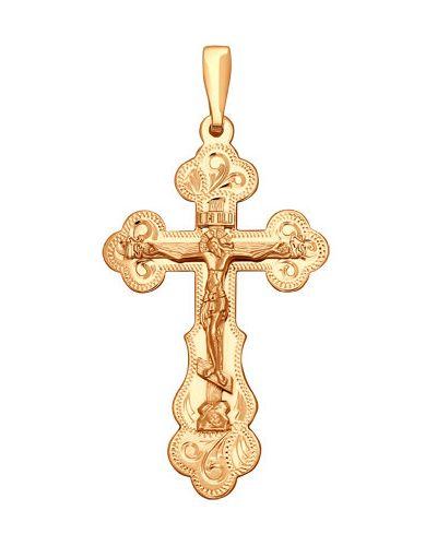 Крестик позолоченный - желтый Sokolov