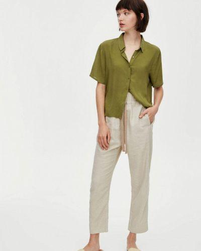 Блузка с коротким рукавом зеленый весенний Pull&bear