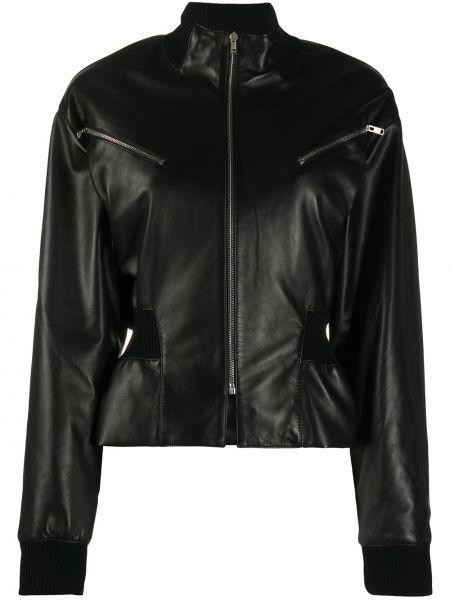 Черная куртка с поясом на молнии Isabel Marant