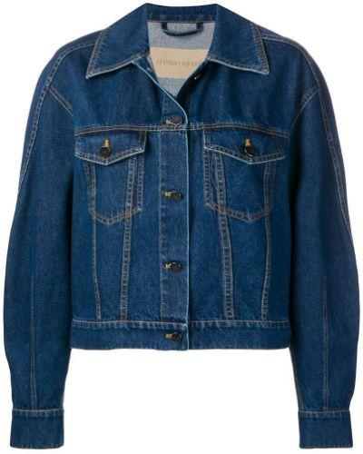 Синяя джинсовая куртка свободного кроя на пуговицах Christian Wijnants