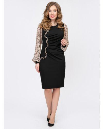 Шифоновое нарядное с рукавами платье макси Diolche