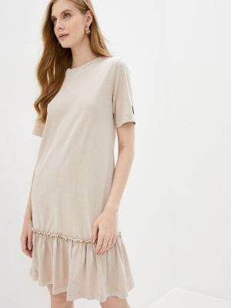 Платье футболка бежевое Sela