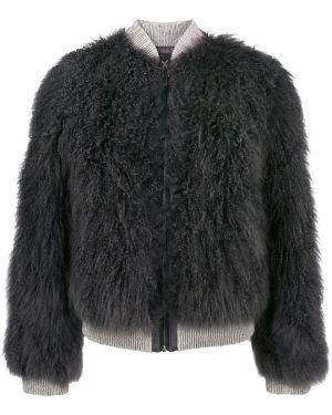 Длинная куртка темно-серый темный Cara Mila