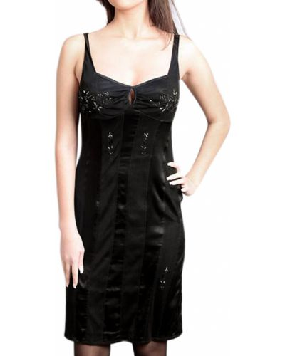Шелковое платье - черное Roberta Scarpa