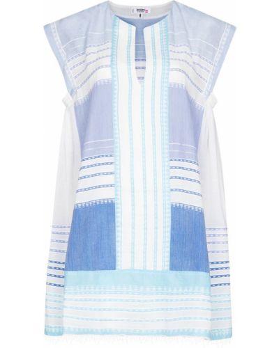Синее платье с вырезом Lemlem