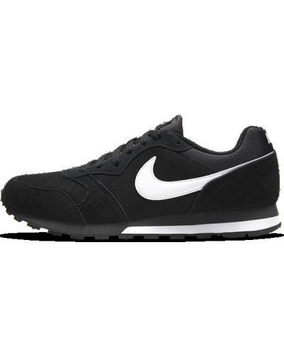 Черные кожаные кроссовки Nike