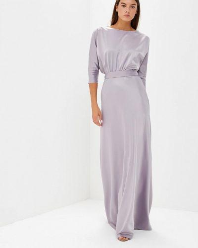 Вечернее платье осеннее серое Tutto Bene