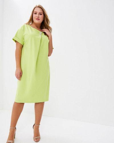 Платье весеннее зеленый Aelite