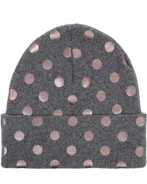 Шерстяная серая классическая шапка с отворотом Le Tricot Perugia