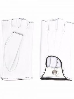 Rękawiczki bez palców - białe Manokhi