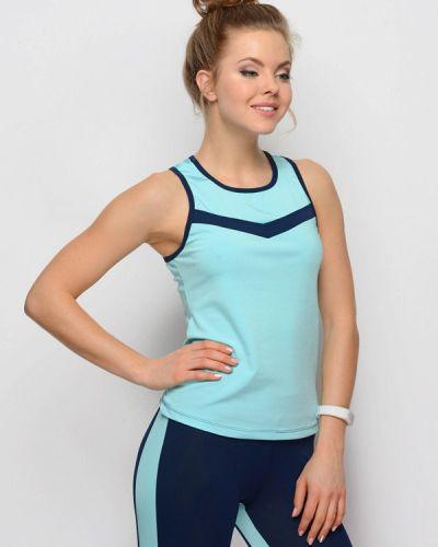Спортивная майка - голубая Go Fitness
