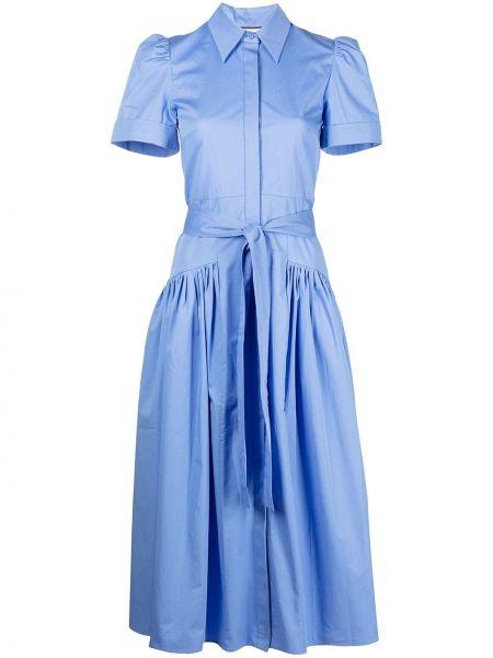 Синее платье рубашка Alexis