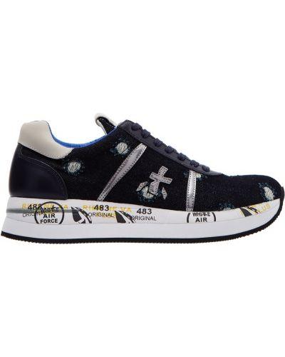 Кроссовки с логотипом синий Premiata