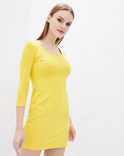 Прямое желтое платье А-силуэта Promin