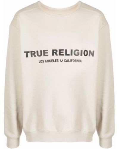 Хлопковый свитшот - бежевый True Religion