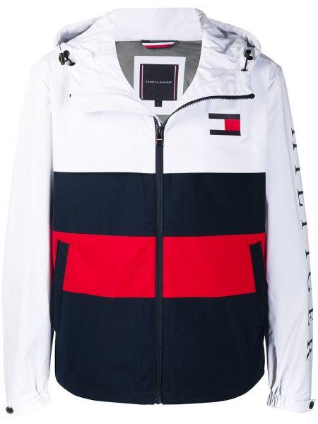 С рукавами белая длинная куртка с карманами Tommy Hilfiger