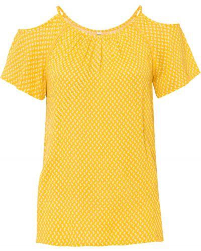 Желтая блузка с рукавом реглан Bonprix