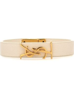 Кожаный браслет - белый Saint Laurent