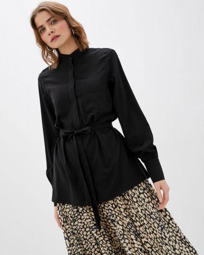 С рукавами черная блузка Trendyangel