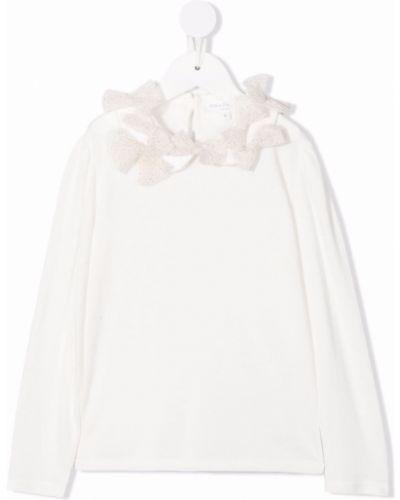 Biała koszulka bawełniana Charabia