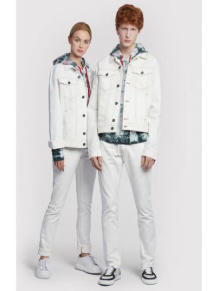 Kurtka jeansowa - biała Vistula