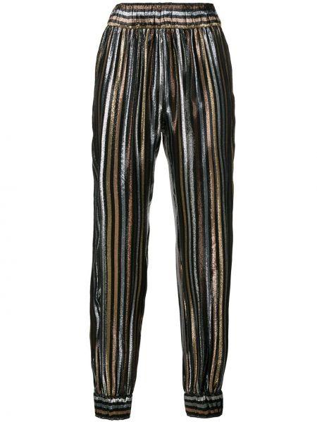 Czarne spodnie z jedwabiu Haney