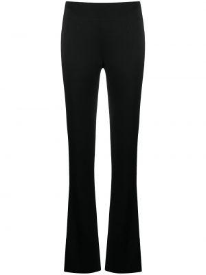 Satynowe czarne spodnie Galvan