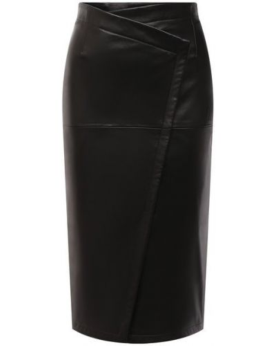 Кожаная юбка - черная Tom Ford