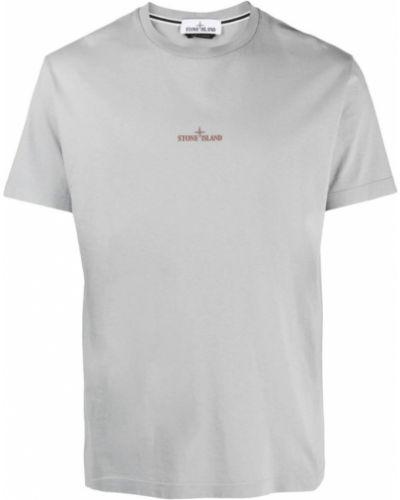 T-shirt bawełniana - szara Stone Island