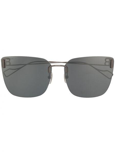 Черные солнцезащитные очки квадратные металлические Balenciaga Eyewear