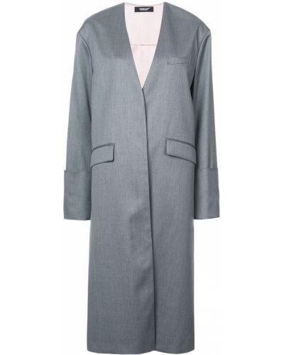 Плиссированное пальто с капюшоном с воротником Undercover