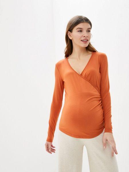 Оранжевая блузка с длинным рукавом Budumamoy