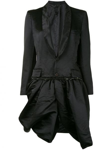 Черный классический пиджак на пуговицах с лацканами Comme Des Garçons