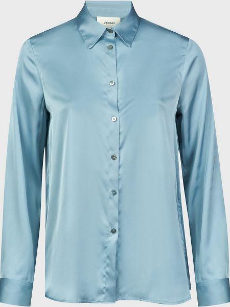 Блузка на пуговицах - голубая Vicolo