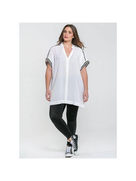 Свободная блузка с коротким рукавом с V-образным вырезом свободного кроя с короткими рукавами Mat Fashion