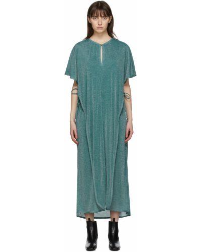 Платье макси длинное - синее Lanvin
