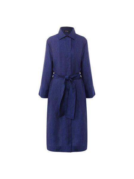 Платье мини с поясом платье-рубашка Kiton