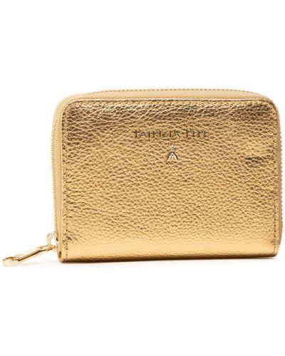 Żółty złoty portfel oversize Patrizia Pepe