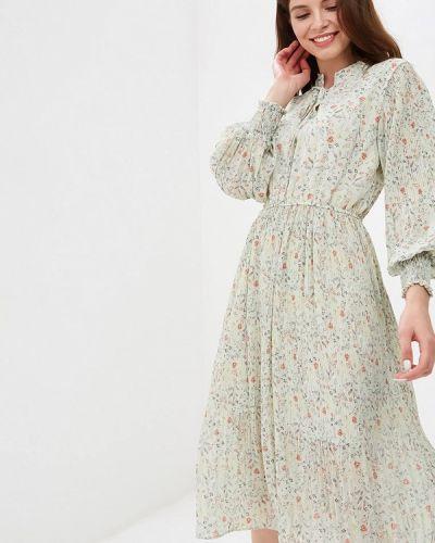 Платье прямое зеленый Kira Mesyats