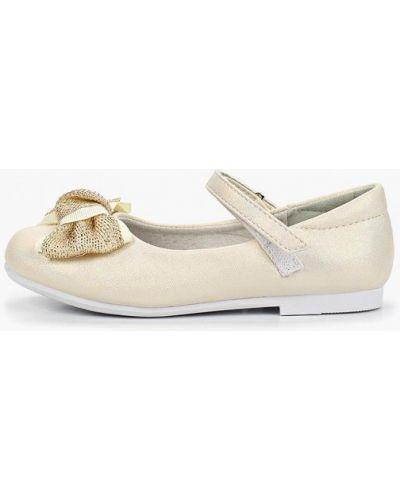 Туфли золотые из искусственной кожи капитошка