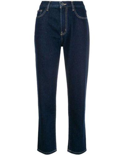Прямые джинсы укороченные синие Current/elliott