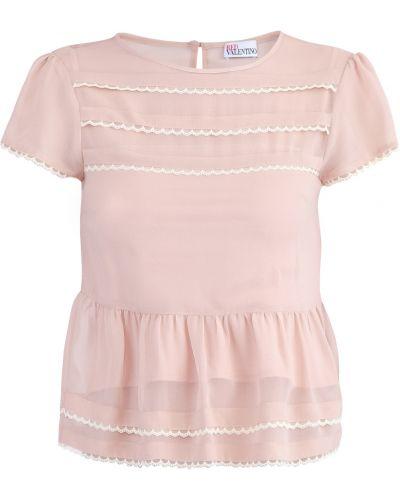 Блузка с коротким рукавом с баской прямая Redvalentino